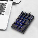 PowerFul-LOT Mechanical Keyboard Clavier Filaire Clavier USB Français Touches Wired,Keyboard Résistant aux Déversements,pour Les calculs Financiers,Utilisateur de Compteur de Bloc-Notes de la marque PowerFul-LOT image 2 produit
