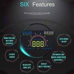 POWSTRO Head Up Display, Auto Speed Vidéoprojecteur OBD2II Euobd avec mais Il Avertissement Pare-Brise Vidéoprojecteur Système d'alarme de la marque POWSTRO image 3 produit