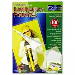 Premier papeterie Pro: Format A4Laminating Pouch (lot de 100) de la marque Premier Stationery image 0 produit