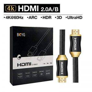 Premium 4K câble HDMI High Speed Câble HDMI 2.0/A/B–Professional câble HDMI vers HDMI pour 4K Ultra HDTV, prise en charge Full HD  hdr, 3d, Sky HD, ARC, CEC, Ethernet/Compatible avec moniteur TV, ordinateur, PC, ordinateur portable, PS3/4, Vidéoprojec image 0 produit