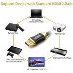 Premium 4K câble HDMI High Speed Câble HDMI 2.0/A/B–Professional câble HDMI vers HDMI pour 4K Ultra HDTV, prise en charge Full HD  hdr, 3d, Sky HD, ARC, CEC, Ethernet/Compatible avec moniteur TV, ordinateur, PC, ordinateur portable, PS3/4, Vidéoprojec image 2 produit