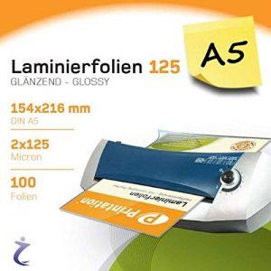 Printation–100pièces A5laminierfolientaschen 216x 154mm, 2x 125mic, laminé Ilustraciones de haute qualité de la marque Printation image 0 produit