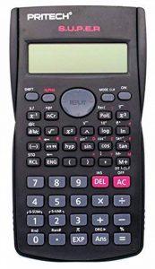 Pritech–Calculatrice scientifique 240fonctions, 24niveaux de parenthèse), couleur gris foncé, Style FX-82MS. de la marque PRITECH image 0 produit