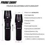 Probe Shiny 5000 Lumens Tactical LED CREE XM-L T6 Lampe de poche de police X800 Zoom Super Bright militaire de grade étanche titulaire Torche 5 Modes+batterie 18650(1pcs)+Chargeur Unique+Pochette en nylon+Étui de protection de la marque PROBE SHINY image 1 produit
