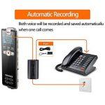 Professional Digital Voice Recorder, entretien Enregistrement de musique MP3, r¨¦duction du bruit, Rechargeable Multifonctionnel Portable de la marque sunlida image 2 produit