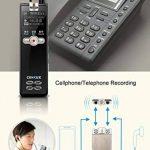 Professional Digital Voice Recorder, entretien Enregistrement de musique MP3, r¨¦duction du bruit, Rechargeable Multifonctionnel Portable de la marque sunlida image 4 produit
