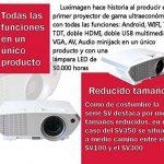 Projecteur avec Android, TNT, luximagen sv350USB, HDMI, VGA, AC3, FullHD ils, 2ans de garantie de la marque Luximagen image 1 produit