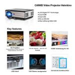 Projecteur de cinéma maison hd 3000 lumens LCD Projecteur vidéo LED avec HDMI VGA USB TV entrée Supporte 1080p rouge-bleu 3D PS4 DVD portable iPad de la marque CAIWEI image 1 produit