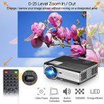 Projecteur de cinéma maison hd 3000 lumens LCD Projecteur vidéo LED avec HDMI VGA USB TV entrée Supporte 1080p rouge-bleu 3D PS4 DVD portable iPad de la marque CAIWEI image 4 produit