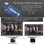 Projecteur de cinéma maison hd 3000 lumens LCD Projecteur vidéo LED avec HDMI VGA USB TV entrée Supporte 1080p rouge-bleu 3D PS4 DVD portable iPad de la marque CAIWEI image 2 produit