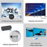 Projecteur HD Smart Vidéoprojecteurs Android 6.0 WiFi LED, 5000 lumens Bluetooth 4.0, Soutien 1080P, HDMI, USB, VGA, Sans Fil 5.8in TFT Extérieur Vidéoprojecteur Home Cinema Gaming TV ArtWork, 10W HiFi Haut-Parleur de la marque WIKISH image 4 produit