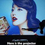 Projecteur HD Smart Vidéoprojecteurs Android 6.0 WiFi LED, 5000 lumens Bluetooth 4.0, Soutien 1080P, HDMI, USB, VGA, Sans Fil 5.8in TFT Extérieur Vidéoprojecteur Home Cinema Gaming TV ArtWork, 10W HiFi Haut-Parleur de la marque WIKISH image 2 produit