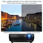 Projecteur HDMI Tenker, 1080p, Projecteur LCD cinéma maison 2400-lumen pour les soirées cinéma et jeux vidéo en extérieur et en intérieur de la marque TENKER image 1 produit
