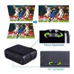 Projecteur LCD 3000 Lumens, Projecteur MultiméDia BEYI Mini Home CinéMa, Prend en Charge 1080P Full HD, HDMI, VGA, USB, SD, AV et Interface Casque, Y Compris HDMI et CâBle AV, Noir de la marque BEYI image 3 produit