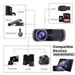 Projecteur LCD 3000 Lumens, Projecteur MultiméDia BEYI Mini Home CinéMa, Prend en Charge 1080P Full HD, HDMI, VGA, USB, SD, AV et Interface Casque, Y Compris HDMI et CâBle AV, Noir de la marque BEYI image 2 produit