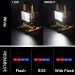 Projecteur LED Rechargeable Super Lumineuse 15W Floodlight Torche Lampe 7 Heure Work Light sans Fil Portable pour Chantier Garage Bricolage Travaux de la marque GRDE image 1 produit