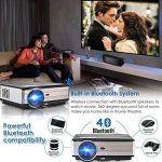 Projecteur LED sans fil WiFi Bluetooth, 4000 lumens LCD Support HD 1080P HDMI, Jeux vidéo Cinéma maison cinéma, pour ordinateur portable Mac iPhone TV(Manuel anglais et UK Plug) de la marque CAIWEI image 2 produit