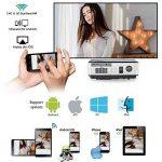 Projecteur LED sans fil WiFi Bluetooth, 4000 lumens LCD Support HD 1080P HDMI, Jeux vidéo Cinéma maison cinéma, pour ordinateur portable Mac iPhone TV(Manuel anglais et UK Plug) de la marque CAIWEI image 3 produit