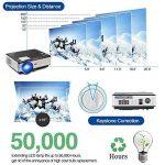 Projecteur LED sans fil WiFi Bluetooth, 4000 lumens LCD Support HD 1080P HDMI, Jeux vidéo Cinéma maison cinéma, pour ordinateur portable Mac iPhone TV(Manuel anglais et UK Plug) de la marque CAIWEI image 4 produit
