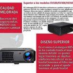 Projecteur pas cher luximagen HD520avec TNT, USB, HDMI, VGA, AC3, Resolucion Real HD, 2ans de garantie de la marque Luximagen image 2 produit