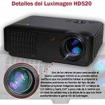 Projecteur pas cher luximagen HD520avec TNT, USB, HDMI, VGA, AC3, Resolucion Real HD, 2ans de garantie de la marque Luximagen image 4 produit