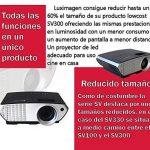 Projecteur pas cher luximagen portable 2000lumens LED Mini Projecteur Home Cinema Portable Multimédia Home Cinéma avec USB SD HDMI VGA PS4, Nintendo Switch, Xbox de la marque Luximagen image 1 produit