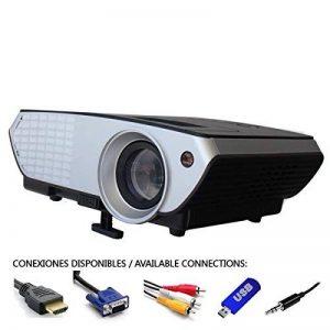 Projecteur pas cher luximagen portable 2000lumens LED Mini Projecteur Home Cinema Portable Multimédia Home Cinéma avec USB SD HDMI VGA PS4, Nintendo Switch, Xbox de la marque Luximagen image 0 produit