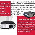 Projecteur pas cher luximagen sv350avec Wifi, Android, TV TNT, USB, HDMI, VGA, AC3, FullHD ils, 2ans de garantie de la marque Luximagen image 2 produit