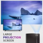 Projecteur, RAGU Z400 LED Mini Protable Vidéoprojecteur Résolution 800x480 supporte Full HD 1080p pour PC Laptop PS4 Smartphone Android iPhoneTV(Noir) de la marque RAGU image 3 produit