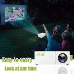 Projecteur Smartphone, Artlii Pico Projecteur LED Portable avec USB-SD-AV-HDMI pour iPhone Andriod Phone iPad PC Laptop Watch Cartoon Video Games TV Shows, Mini videoprojecteur de la marque Artlii image 3 produit