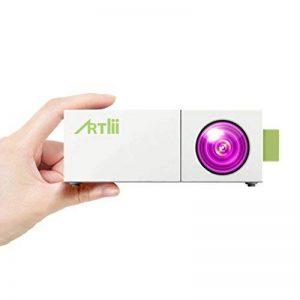 Projecteur Smartphone, Artlii Pico Projecteur LED Portable avec USB-SD-AV-HDMI pour iPhone Andriod Phone iPad PC Laptop Watch Cartoon Video Games TV Shows, Mini videoprojecteur de la marque Artlii image 0 produit