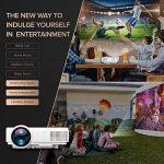 Projecteur, TENKER Q5 Mini Projecteur Video +20% Lumens Full HD 1080p Projecteur LED Portable Soutien HDMI USB TF VGA AV pour iPhone iPad Smartphone TV Xbox PC, Blanc de la marque TENKER image 4 produit
