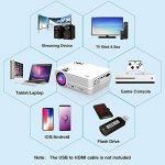 Projecteur Vidéo, LATOW X8 Vidéoprojecteur Full HD 1080P projecteur vidéo mini 170 Pouces Image Grand Portable Home Cinéma multimédia HDMI / TF / VGA / AV / USB pour Smartphone / Laptop / TV / Incl HDMI, Blanc de la marque LATOW image 4 produit