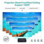 """Projecteur Vidéoprojecteur Full HD Mini Projecteur Portable WiFi & Bluetooth Home Cinéma Projecteur Soutien 1080P Max300 """"DLP 3D Vidéo Projecteur Construit en Batterie 7800mAh Android Système Pour Gaming Business & Education de la marque WOWOTO image 1 produit"""