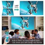 """Projecteur Vidéoprojecteur Full HD Mini Projecteur Portable WiFi & Bluetooth Home Cinéma Projecteur Soutien 1080P Max300 """"DLP 3D Vidéo Projecteur Construit en Batterie 7800mAh Android Système Pour Gaming Business & Education de la marque WOWOTO image 2 produit"""