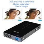 Projecteur WXGA 720P HD, Ezapor Vidéoprojecteur LED Mini pour Home Cinéma,Vidéo Projecteur Portable WiFi Vidéo Film Smartphone TV Noir de la marque Mileagea image 1 produit