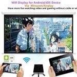 Projecteur WXGA 720P HD, Ezapor Vidéoprojecteur LED Mini pour Home Cinéma,Vidéo Projecteur Portable WiFi Vidéo Film Smartphone TV Noir de la marque Mileagea image 3 produit