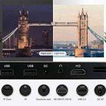 Projecteur WXGA 720P HD, Ezapor Vidéoprojecteur LED Mini pour Home Cinéma,Vidéo Projecteur Portable WiFi Vidéo Film Smartphone TV Noir de la marque Mileagea image 4 produit
