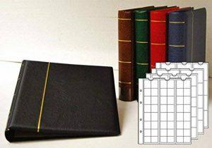 Prophila Reliure pour des monnaies avec 4 feuilles pour 110 pièces de monnaie vert de la marque Prophila Collection image 0 produit