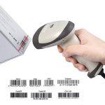 PROZOR Lecteur Code à Barres Barcode Scanner à Laser Automatique Douchette Optique de Haute Vitesse avec USB Filaire à Longue Portée Indicateur Buzzer Portable POS Laser pour Win 7 8 Mac Os X 10.8.4 Linux – Blanc de la marque Proster image 4 produit