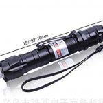 Puissant Vert Pointer Pen Lumière Militaire Réglable Focus Lampe de Poche Présentateur Pointer avec 18650 Chargeur de Batterie de la marque image 1 produit