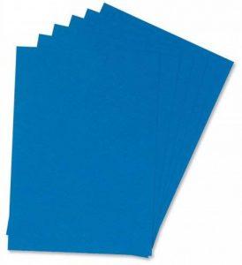 Q Connect Lot de 100 protège-documents Effet cuir Bleu Format A4 de la marque Q-Connect image 0 produit