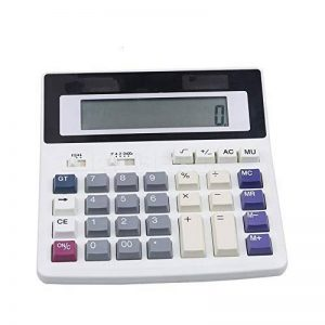 Qztg Calculatrices Big Buttons Office Calculator Grandes Touches De L'Ordinateur Muti-Fonction Ordinateur Calculatrice De Batterie de la marque QZTG Calculatrices image 0 produit