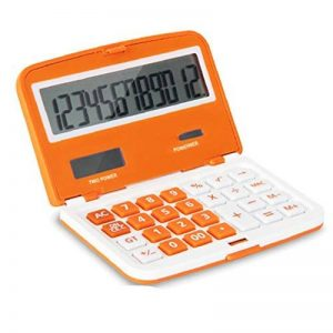 Qztg Calculatrices Calculatrice De Poche Mini Solaire Pour Le Bureau D'École Informatique Fourniture De Calculatrice Pliante Multifonction, Orange de la marque QZTG Calculatrices image 0 produit
