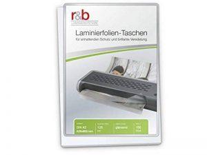 R & B FT de A2–125plastifier A2, 426x 600mm, 2x 125microns, lot de 100, brillant de la marque R&B image 0 produit