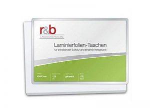 R & B M BC 125Lot de 100pochettes de plastification Carte de visite, 60x 90mm, brillant, 2x 125microns, lot de 100 de la marque R&B image 0 produit