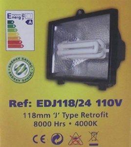 R7s 150w faible consommation d'énergie remis à jour 110 Lampe de rechange pour projecteur halogène 118 mm 52 Moulin ampoule 100 W (équivalent 100 W) Culot CFL R7s-Fluo compacte livraison gratuite UK Travaux de Construction du Site Festoon Lumière Jaune 11 image 0 produit