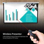 Ranipobo Télécommande de présentation sans fil, 2.4GHz USB PowerPoint PPT présentateur Télécommande Clicker avec pointeur laser pour la parole, présentations, enseignement de la marque Ranipobo image 1 produit