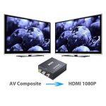 RCA vers HDMI Convertisseur 1080p Composite CVBS AV vers HDMI Adaptateur vidéo audio RCA vers HDMI Adaptateur prise en charge PAL NTSC pour PS3Xbox STB VHS VCR lecteurs de DVD Blue-ray TV Vidéoprojecteur etc. de la marque AMTOVLEU image 3 produit