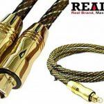 Realmax® Maille de nylon câble Toslink 1m 2m 3m 4m 5m 10m Audio Numérique Optique Doré de qualité premium Prend en charge tous les appareils compatibles Toslink et gadgets de la marque REALMAX® - UK image 3 produit